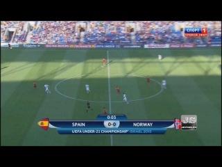 Spain (U-21) 3:0 Norway (U-21). All the goals. Highlights.() 720 HD!
