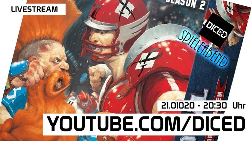 DICED Spielabend Blitz Bowl Season 2 DICED