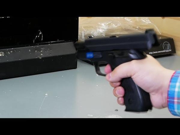 Страйкбольный пистолет WE Sig Sauer P229 Green gas видео обзор