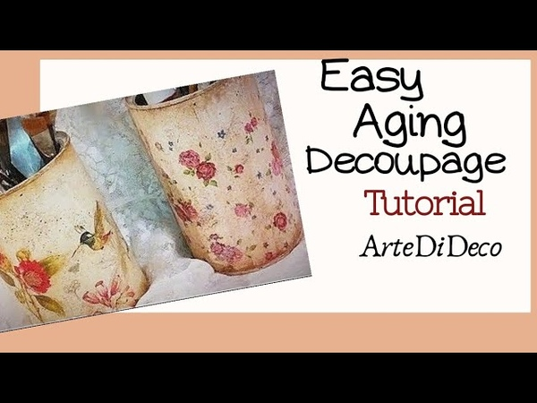 How to decoupage Παλαίωση με ακρυλικα Aging with acrylic colors