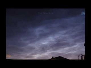 Серебристые облака 21 июня 2014 the noctilucent clouds