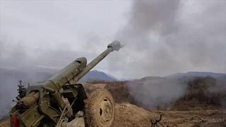 Стрельбы артиллерии российской военной базы в Абхазии