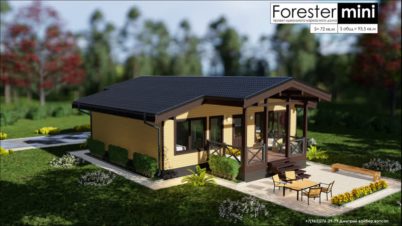 Forester mini каркасный дом по цене квартиры в регионе