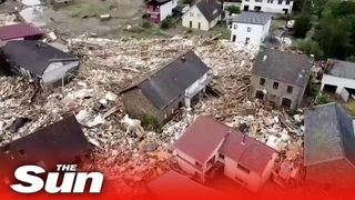 Germany floods: At least 70 dead and dozens more missing after record rainfall in western Europe