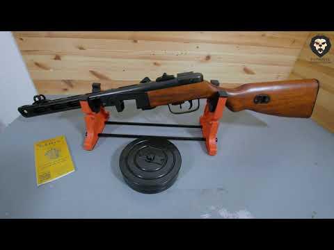 Макет пистолета пулемета Шпагина ММГ ППШ 41 DE 1301 видео обзор 4k
