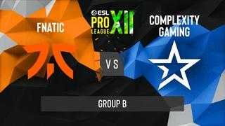 CS:GO - Complexity vs. Fnatic [Vertigo] Map 3 - ESL Pro League Season 12 - Group B - EU