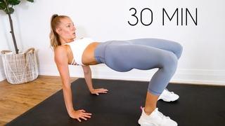 Madie Lymburner - 2 in 1- FLAT BELLY & ROUND BOOTY 30 min Workout (No Equipment) | Тренировка для живота и ягодиц без инвентаря
