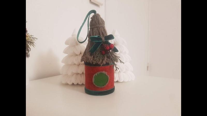 DIY birdhouse christmas скворечник на елку поделка pajarera navidad Boże Narodzenie w ptaszarni