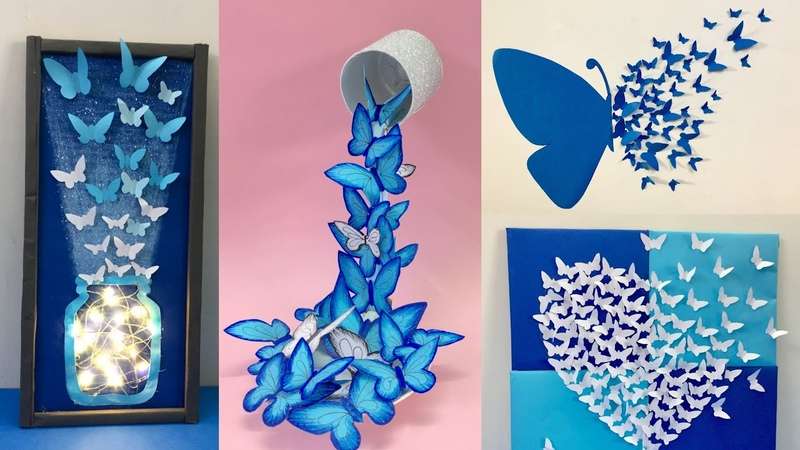 8 Easy and Awesome Room Decor Ideas with Paper Butterfly How to make paper Butterfly