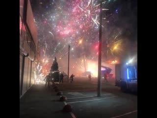 Пожар на складе фейерверков в Ростове-на-Дону