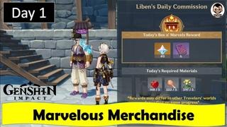 Marvelous Merchandise - Day 1 | Genshin Impact