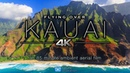 FLYING OVER KAUAI (4K) Hawaii's Garden Island   Ambient Aerial Film Music for Stress Relief 1.5HR