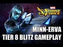 Minn Erva Tier 8 Blitz Gameplay Marvel Strike Force