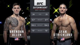 UFC Vegas 33 Free Fight: Sean Strickland vs Brendan Allen