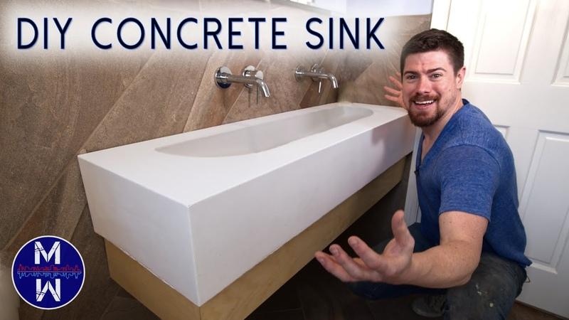 DIY Concrete Sink Countertop ll Small Bathroom Renovation