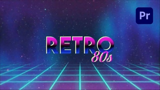 How to Create a 80s Retro Title Effect in Adobe Premiere Pro