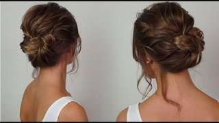 Quick gorgeous low bun with braids, Great party/bridal/bridesmaid hairstyle for medium/long hair
