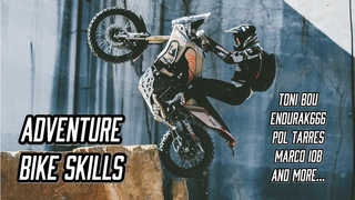Trial Riders With Adventure Bike - KTM 990 - AFRICA TWIN - BMW GS *compilation with best skills*