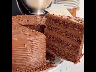 """Вкуснейший шоколадный торт, напоминающий по вкусу трюфель! / Наша группа во ВКонтакте: """"ТОРТ-РЕЦЕПТ-VК""""."""