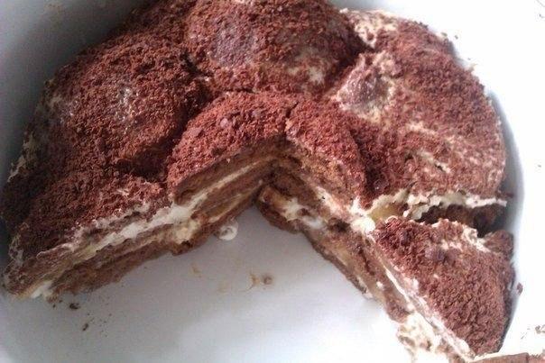 Прянично-банановый тортик