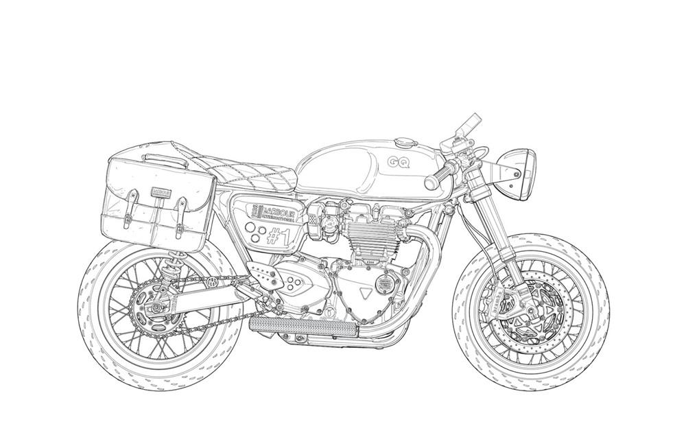 Адам Кэй и Иан Гэлвин: коллекция раскрасок мотоциклов для взрослых