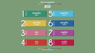 #04 - ИТАЛЬЯНСКИЙ ЯЗЫК - 500 основных слов. Изучаем итальянский язык самостоятельно