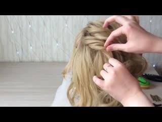 Быстрая стильная причёска