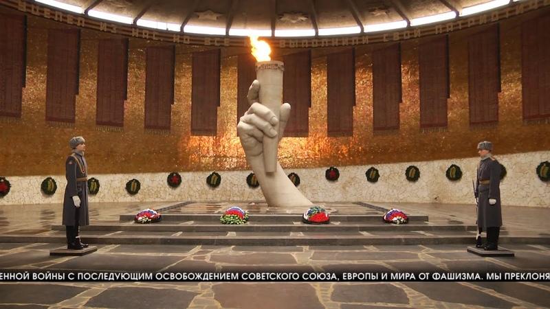 Защитники Сталинграда Губернатор Волгоградской области Андрей Бочаров возложил цветы войнам