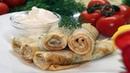 Восхитительно вкусные и нежные сырные блинчики с зеленью. Как приготовить блины