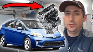 Замена двигателя на Toyota Prius 2015 после гидроудара