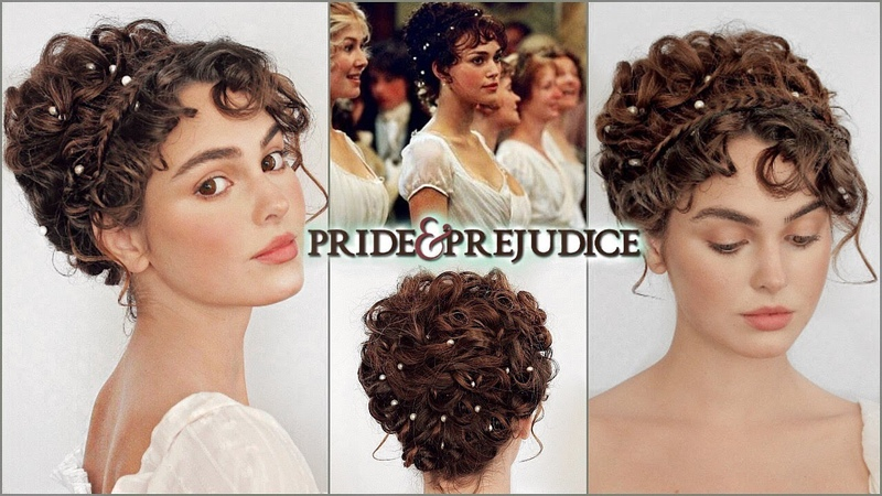 Elizabeth bennet pride prejudice makeup hair tutorial