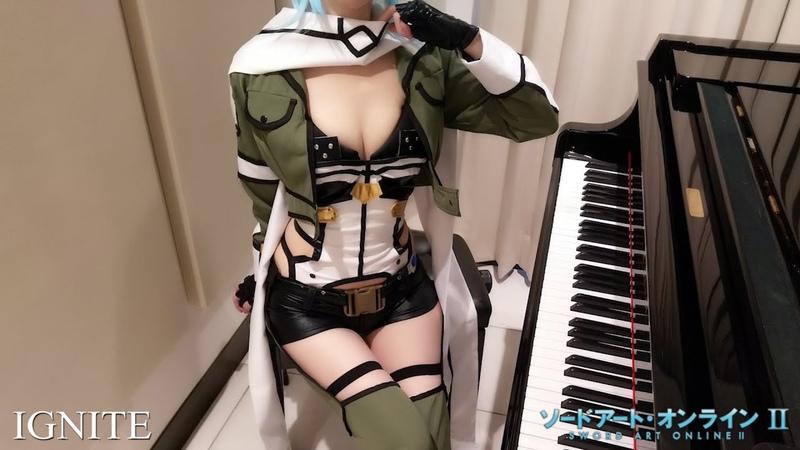 ソードアート・オンラインⅡ OP IGNITE 藍井エイル Sword Art Online II ピアノ