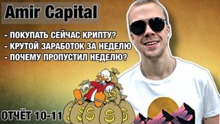10/11 й Отчет фонда Amir Capital. Стоить ли сейчас покупать крипту? Изменения фонда и что делаю я?!