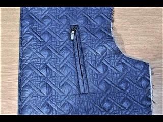 КАК СДЕЛАТЬ ПРОРЕЗНОЙ КАРМАН НА МОЛНИИ С ДВУМЯ ОБТАЧКАМИ  2カットのジッパー付き彫刻ポケットの作り方 POCKET WITH A Zipper