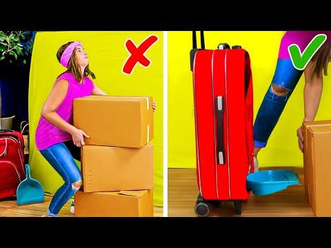 42 CONSEJOS LISTOS DE MUDANZA para guardar todas tus cosas Trucos para empacar y doblar