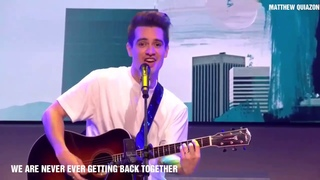 Brendon Urie(Panic! At The Disco) singingTaylor Swiftsongs.
