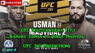 UFC 261 UFC Welterweight Title Kamaru Usman  vs.  Jorge Masvidal Predictions EA Sports UFC 4