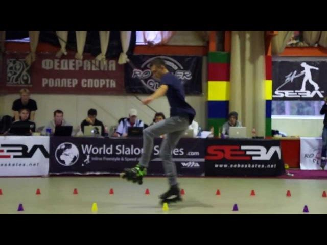 Rollerclub Cup 2013 Sulinowski Michal, 2nd place classic slalom men