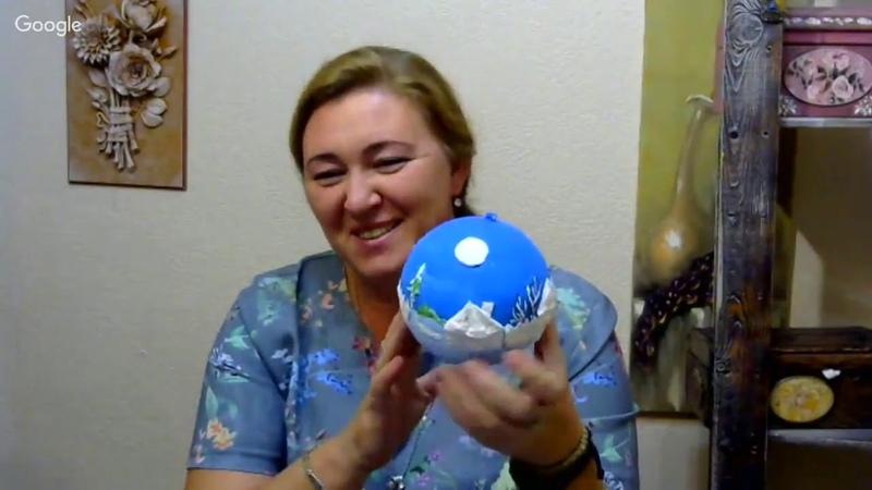 Елена Васько. ватный декор новогодних украшений 03 10 18 7 1