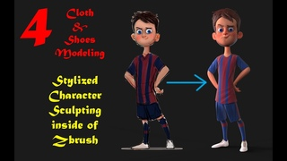 004   Stylized Character Sculpting   Zbrush   Cloth Modeling !!!!!