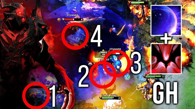 GH-GOD Shadow Fiend EPIC Combo - 4 Man Chrono Requiem of Souls - PERFECT Dota 2