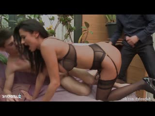 Ania Kinski French MILF DP (Lingerie stockings Brunette anal милфа брюнетка француженка double penetration двойное проникновение