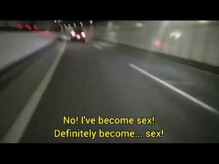 """Japanese man chases car while yelling sex at the top of his lungs but with """"you say run"""""""