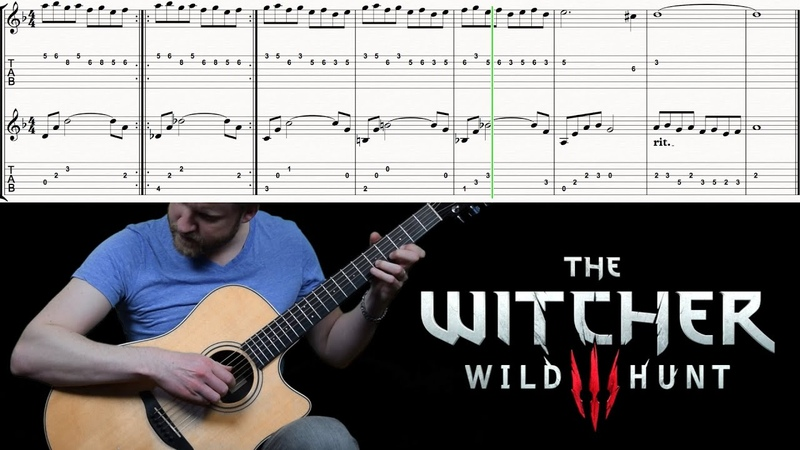 The Witcher 3 Blood Wine Dettlaff's Music Box Classical Fingerstyle Guitar Easy Tabs Cover