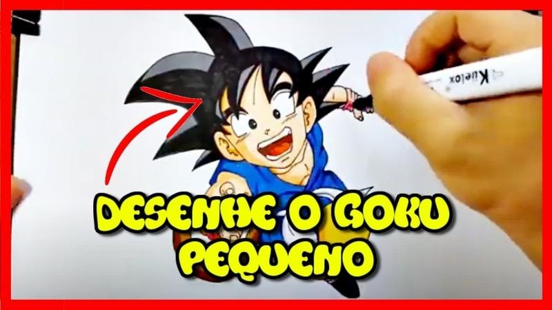 Como Desenhar Anime AVISO Você Está Prestes a Descobrir Como Desenhar O Goku Pequeno