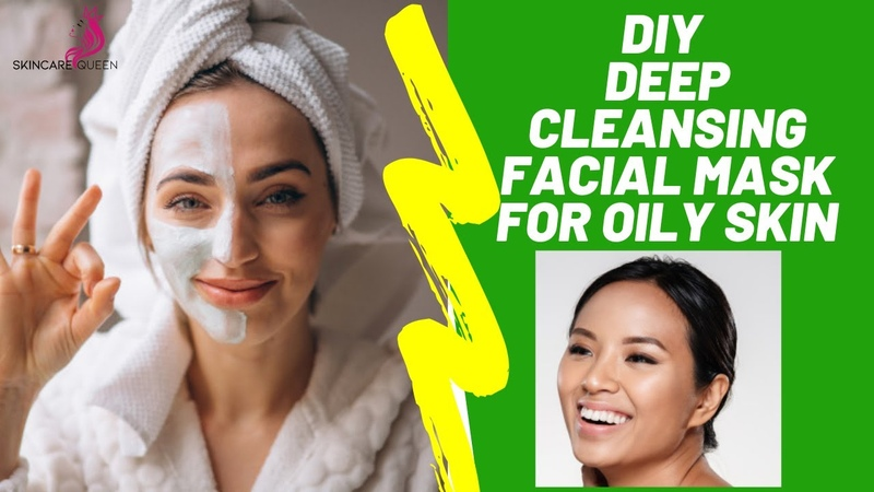 DEEP CLEANSING DIY FACE MASK FOR OILY SKIN ACNE HOMEMADE FACE MASK WITH YEAST LEMON🍋✔️