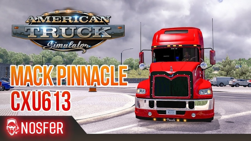 🚦American Truck Simulator 1 38 Mack Pinnacle CXU613🚛