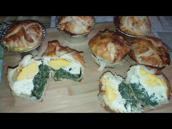 MINI PASQUALINE / TORTA PASQUALINA IN MONOPORZIONE ricetta facile