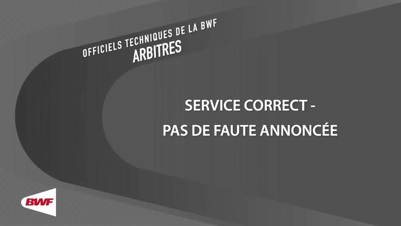 UMPV19 Pas de Faute de Service Annoncée Service correct