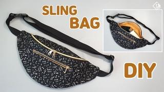DIY DOUBLE ZIPPER SLING BAG/ Fanny pack / Free pattern / sewing tutorial [Tendersmile Handmade]